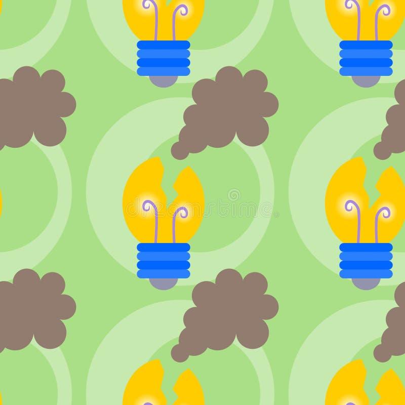 Łamany lightbulb tła projekt royalty ilustracja
