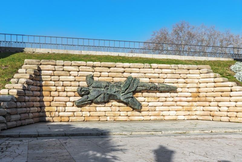 Łamany mężczyzna - Hiszpańskiej Cywilnej wojny zabytek, Madryt, Hiszpania obraz royalty free