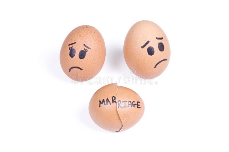 Łamany małżeństwa pojęcie zdjęcia stock