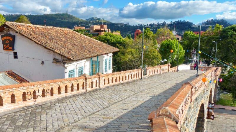 Łamany most w Cuenca, Ekwador obraz stock