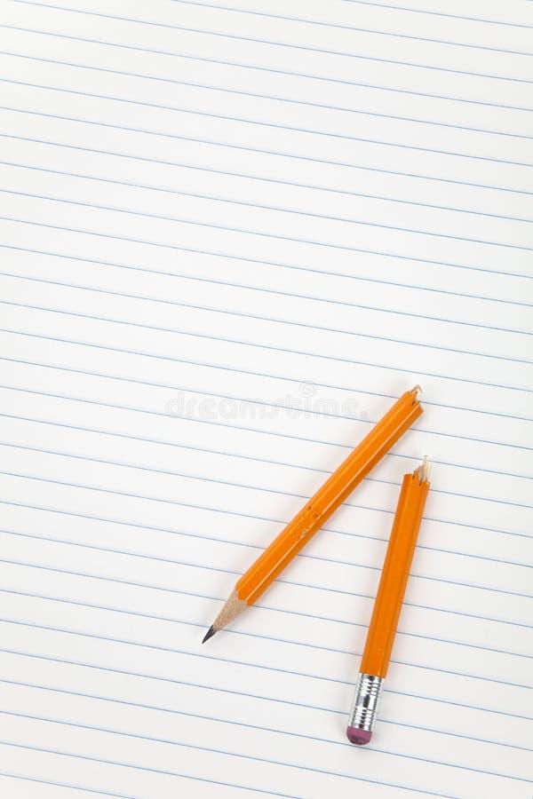 Łamany ołówek obrazy royalty free