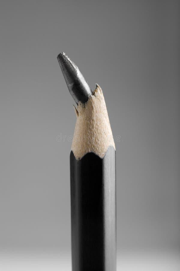 łamany ołowiany ołówek obrazy stock