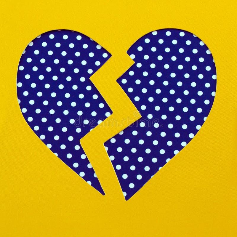 Łamany polki kropki serce ilustracji