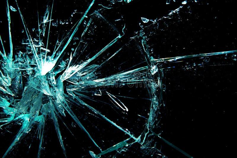 łamany szkło zdjęcie stock
