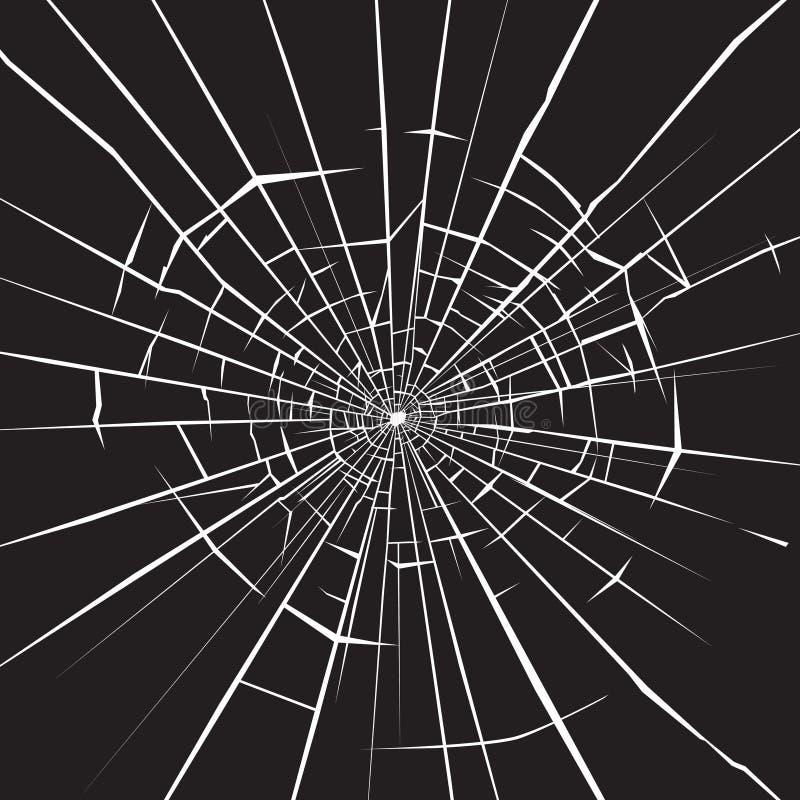 Łamany szkło ilustracja wektor