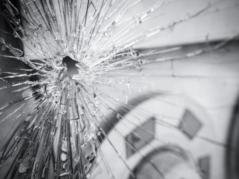Łamany szkło rozbijający wrak powierzchni tekstury tło fotografia royalty free