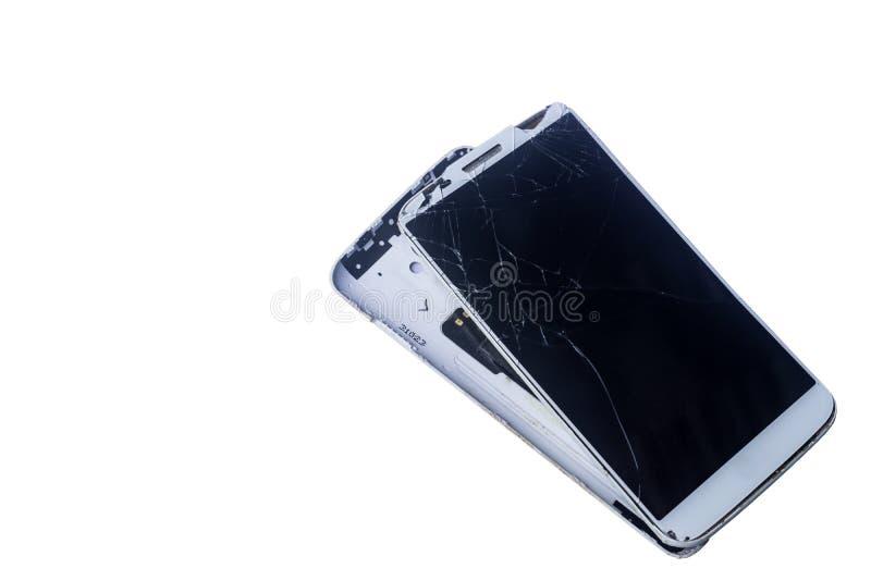 Łamany telefon komórkowy obraz stock