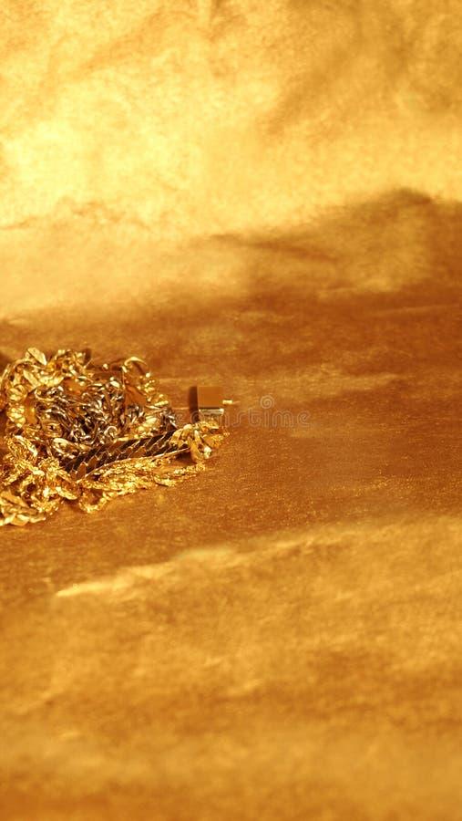 łamany złoto zdjęcia stock