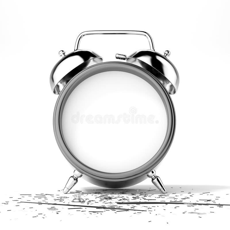 Łamany zegar royalty ilustracja