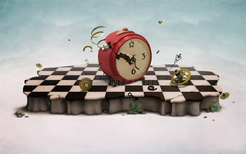 łamany zegarowy stary podium royalty ilustracja
