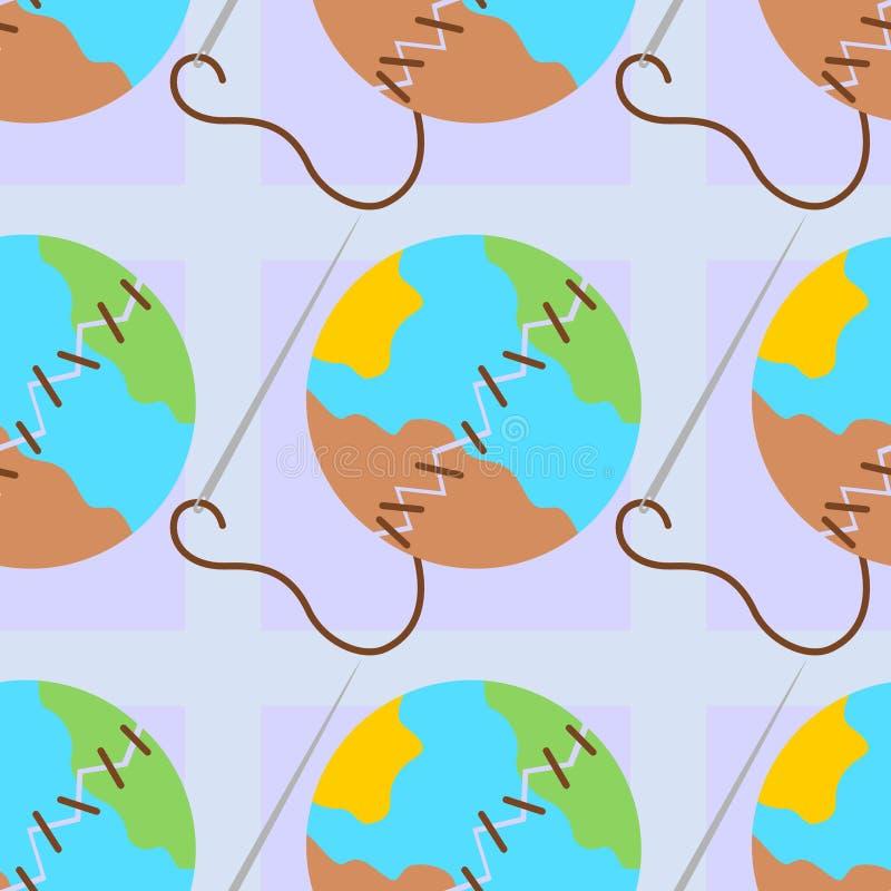 Łamany ziemski bezszwowy tło projekt ilustracja wektor