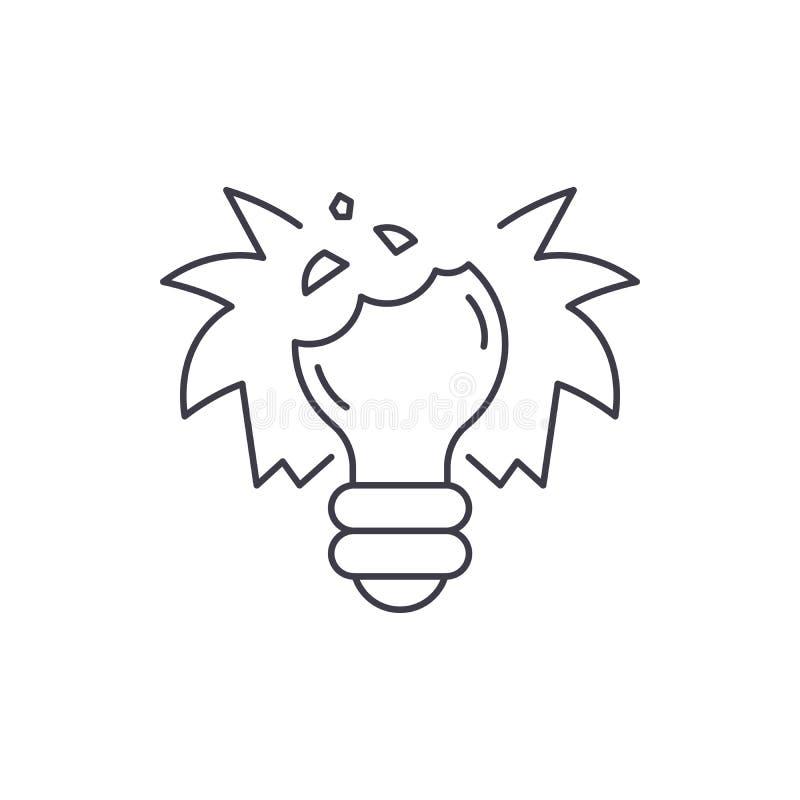 Łamanych sen ikony kreskowy pojęcie Łamanych sen wektorowa liniowa ilustracja, symbol, znak royalty ilustracja