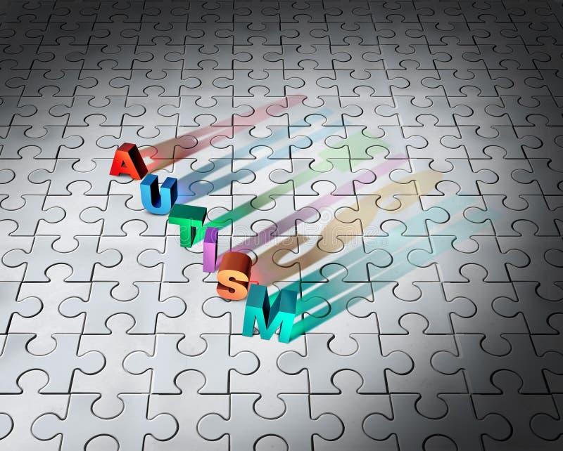 Łamigłówka autyzm I Autystyczna diagnoza ilustracja wektor