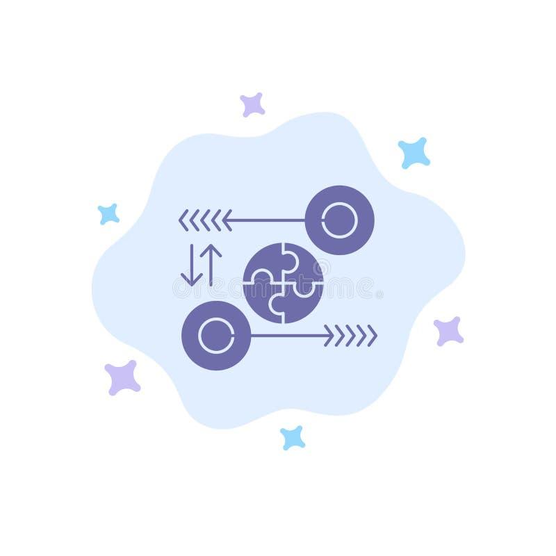 Łamigłówka, biznes, pomysł, marketing, Trafna Błękitna ikona na abstrakt chmury tle ilustracja wektor