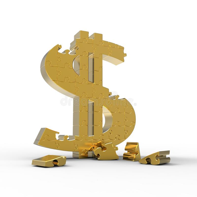 łamigłówka dolarowy znak my ilustracji