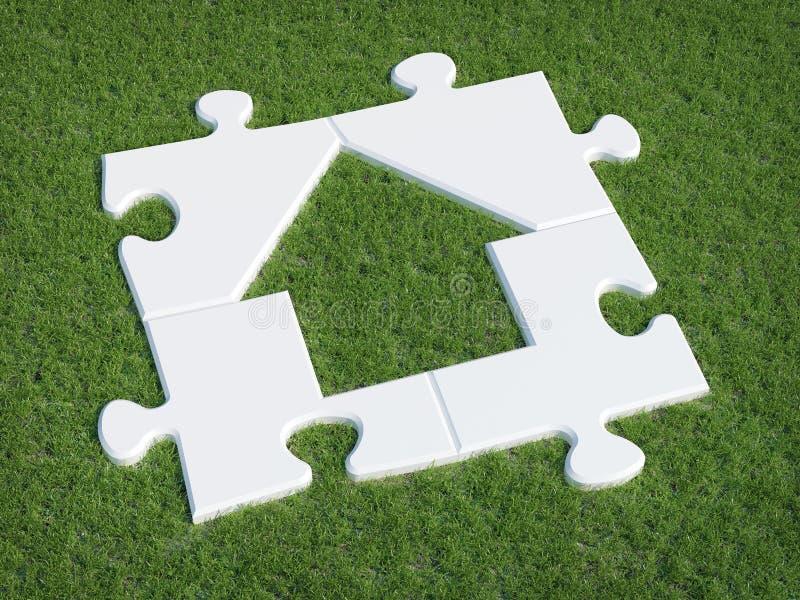 łamigłówka domowy symbol obraz stock