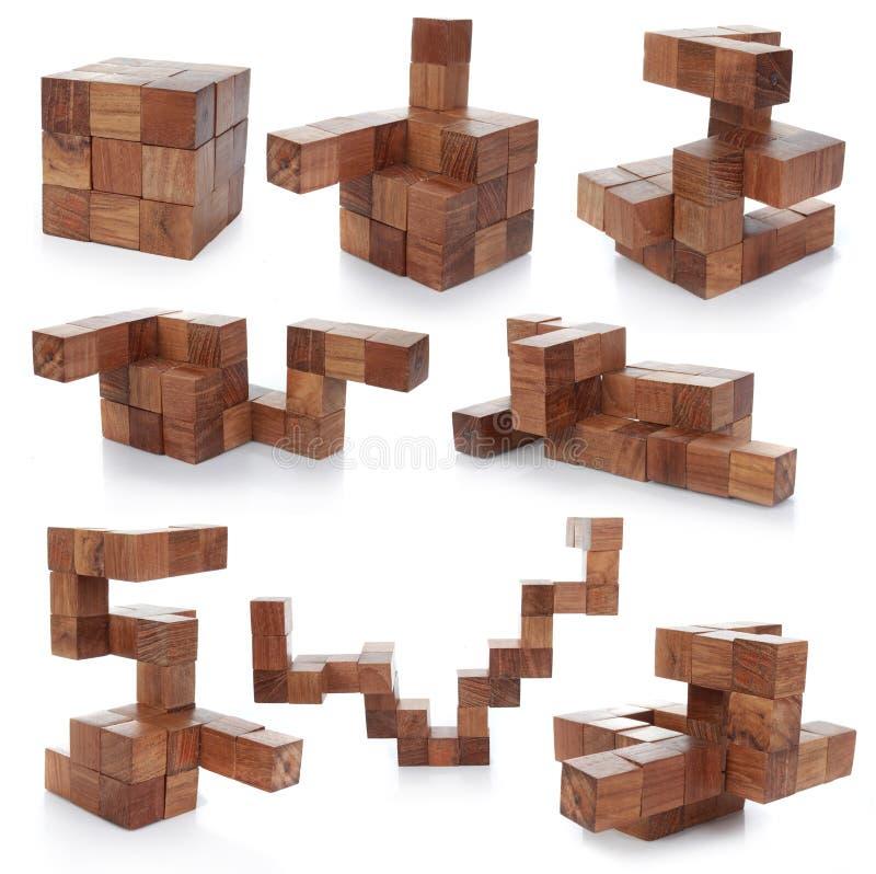 łamigłówka drewniana obraz stock
