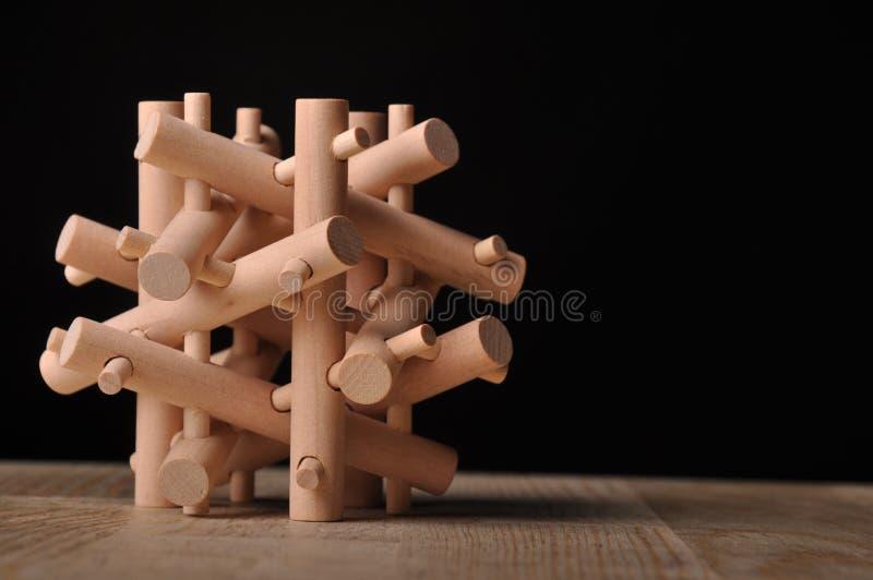 łamigłówka drewniana obrazy stock