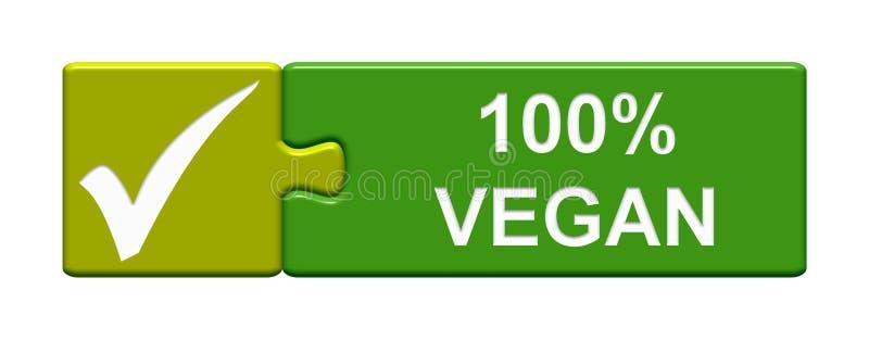 Łamigłówka guzik: 100% weganin royalty ilustracja