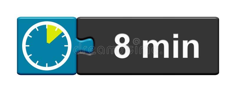 Łamigłówka guzika błękitny popielaty: 8 minut ilustracja wektor