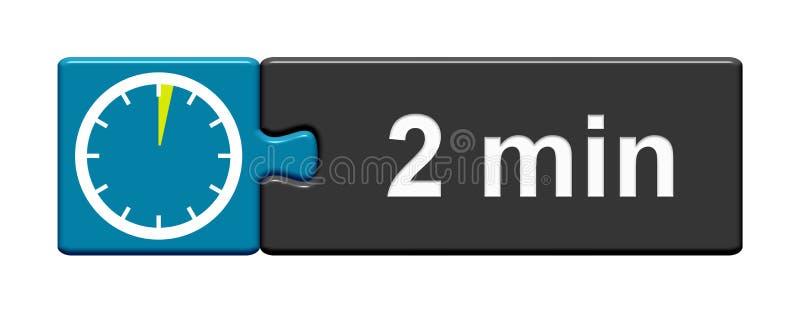 Łamigłówka guzika błękitny popielaty: 2 minuty ilustracji