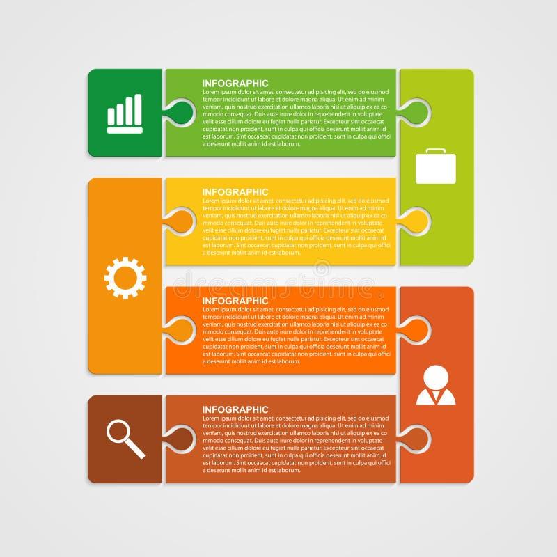 Łamigłówka kawałka infographics biznesu pojęcie ilustracji
