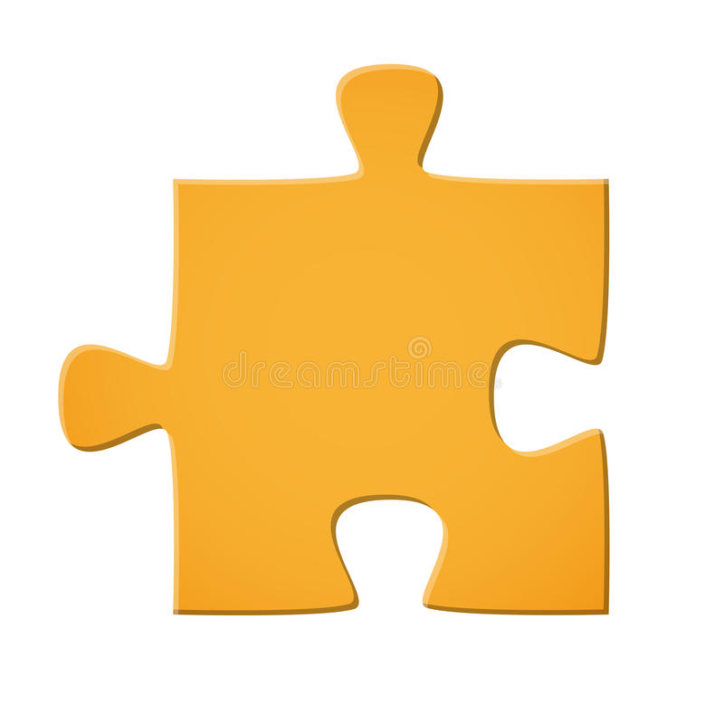 Łamigłówka kawałka kolor żółty ilustracji