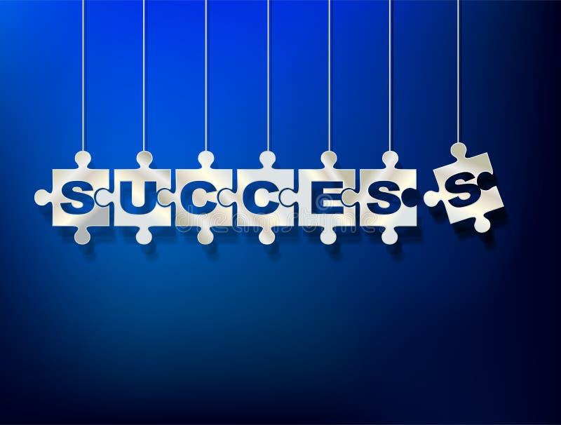 Łamigłówka kawałki z listami komponują słowo sukces royalty ilustracja