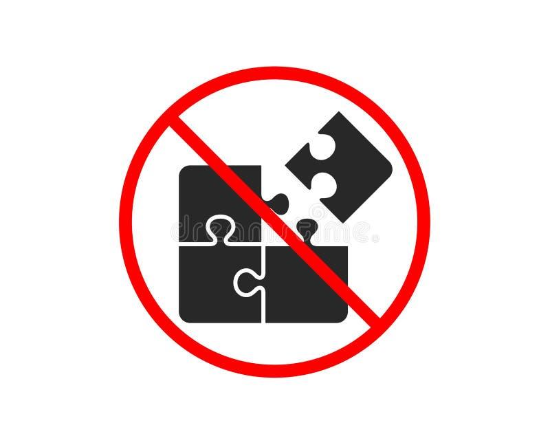 Łamigłówki ikona Inżynierii strategii znak wektor ilustracji
