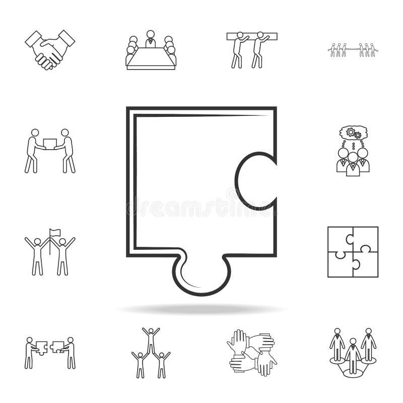 Łamigłówki kreskowa ikona Szczegółowy set drużynowe praca konturu ikony Premii ilości graficznego projekta ikona Jeden inkasowe i ilustracja wektor