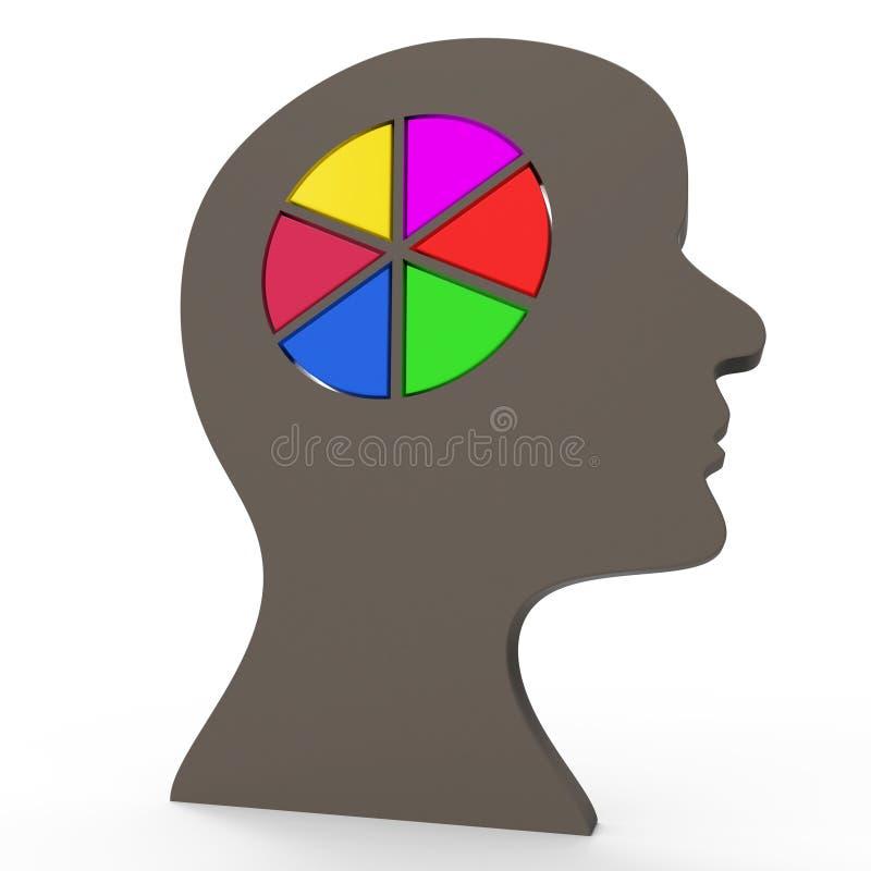 Łamigłówki myśl Reprezentuje kontemplacja plan I Odbijać ilustracja wektor