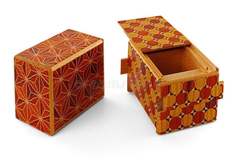 Łamigłówki pudełko zdjęcia royalty free