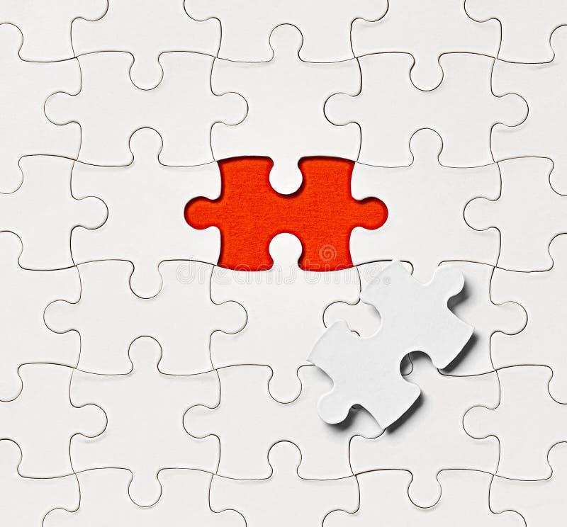 Łamigłówki rozwiązania gemowa praca zespołowa obraz stock