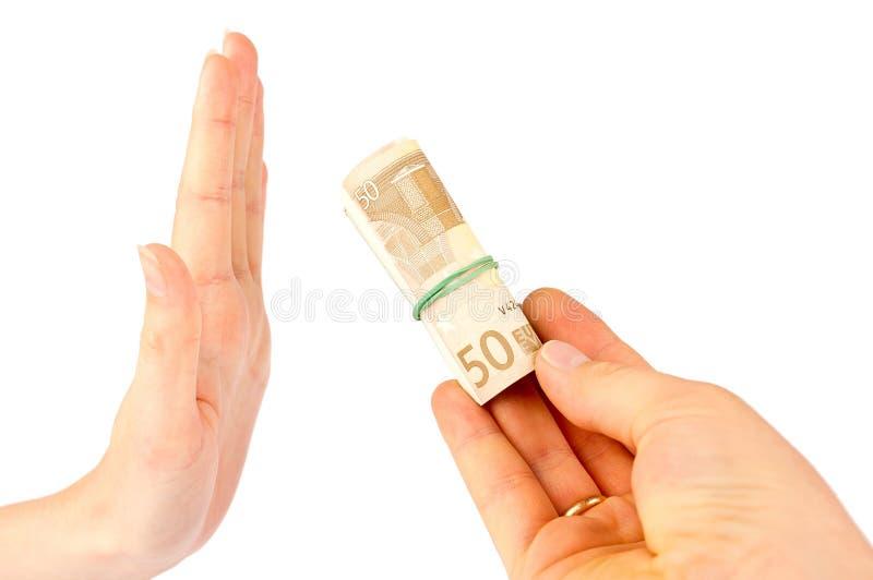 łapówka euro zdjęcia royalty free