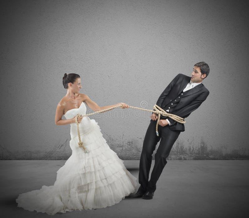 Łapać w pułapkę małżeństwem obraz stock