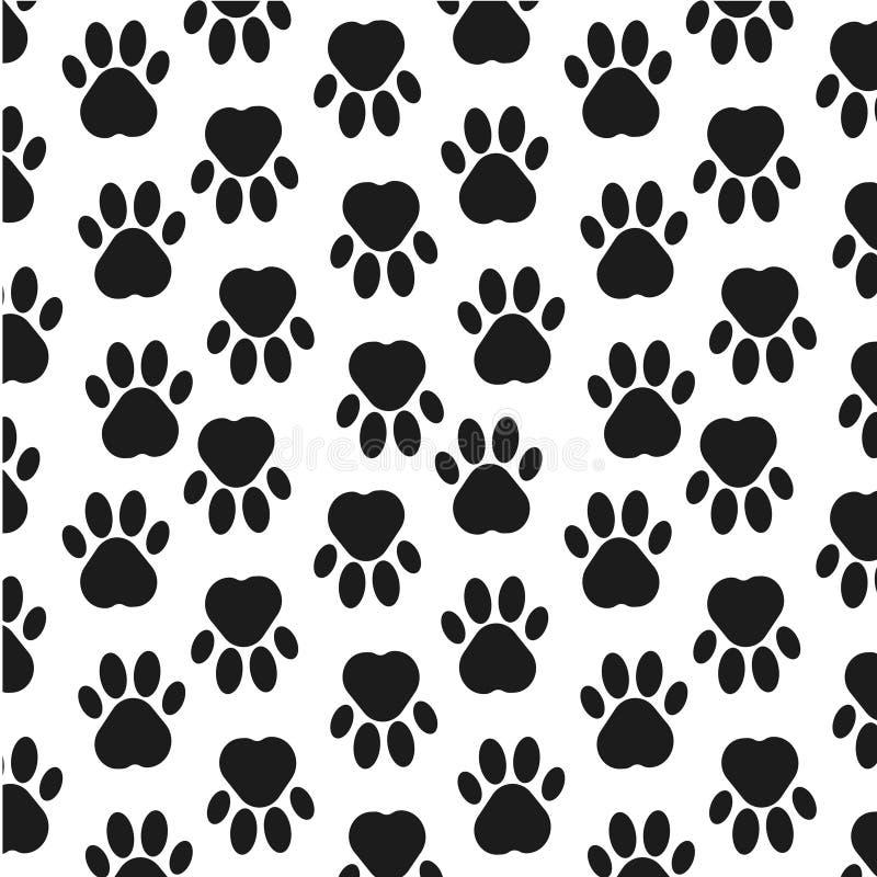 Łapa druku tło footprint Bezszwowy tło z odciskiem stopy pies, zwierzę również zwrócić corel ilustracji wektora ilustracji