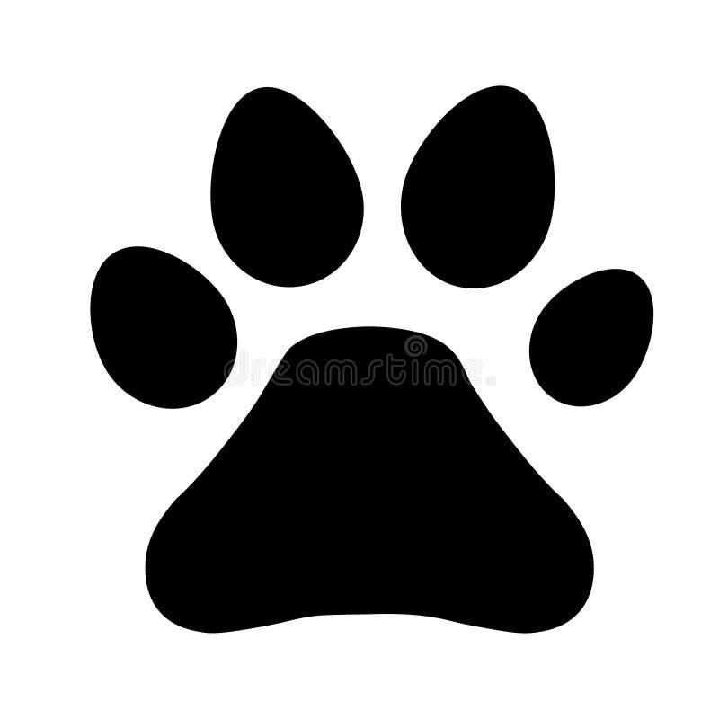 Łapa kota lub psa druku znak - wektorowa ilustracja royalty ilustracja