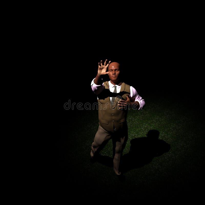 Łapiący w świetle ilustracji