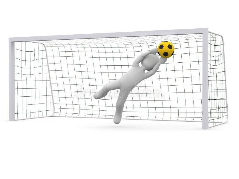 Łapie piłkę ilustracji