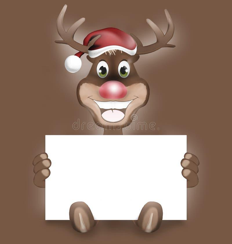 Łapy Rudolf Szczęśliwy uśmiech ilustracji