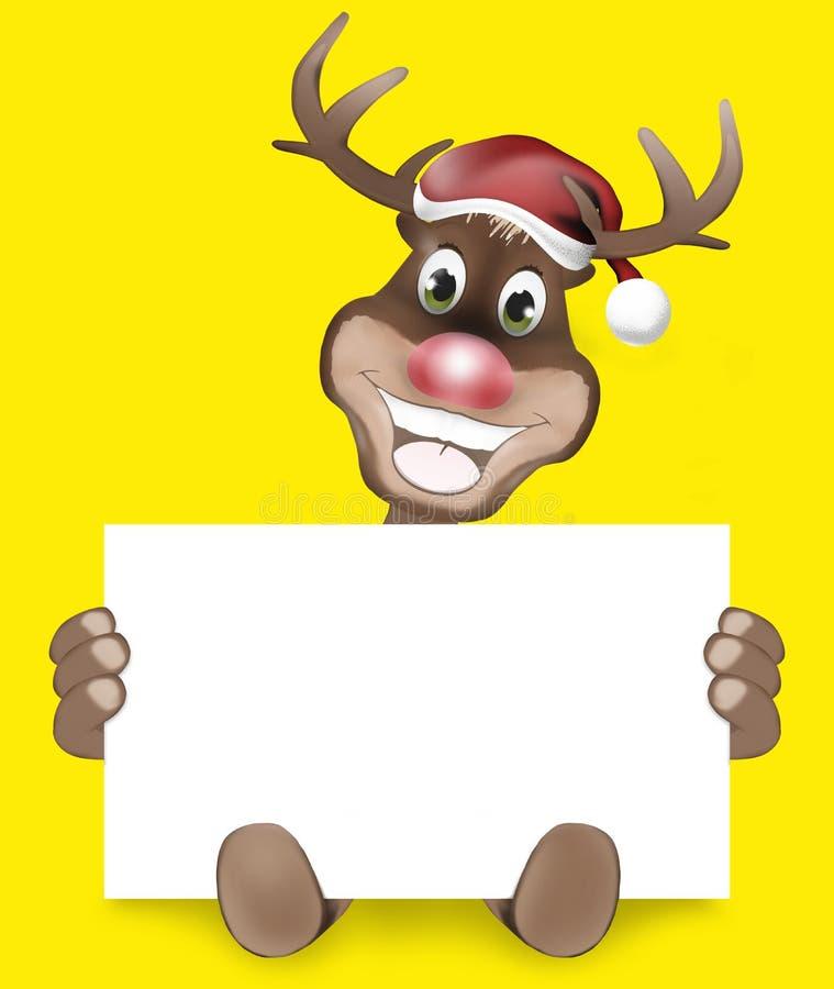 Łapy Rudolf uśmiechu bożych narodzeń Szczęśliwy projekt ilustracji