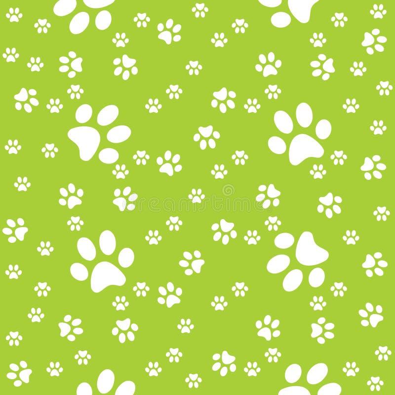 Łapy zieleni wzór, łapy tło, wektorowa ilustracja ilustracja wektor