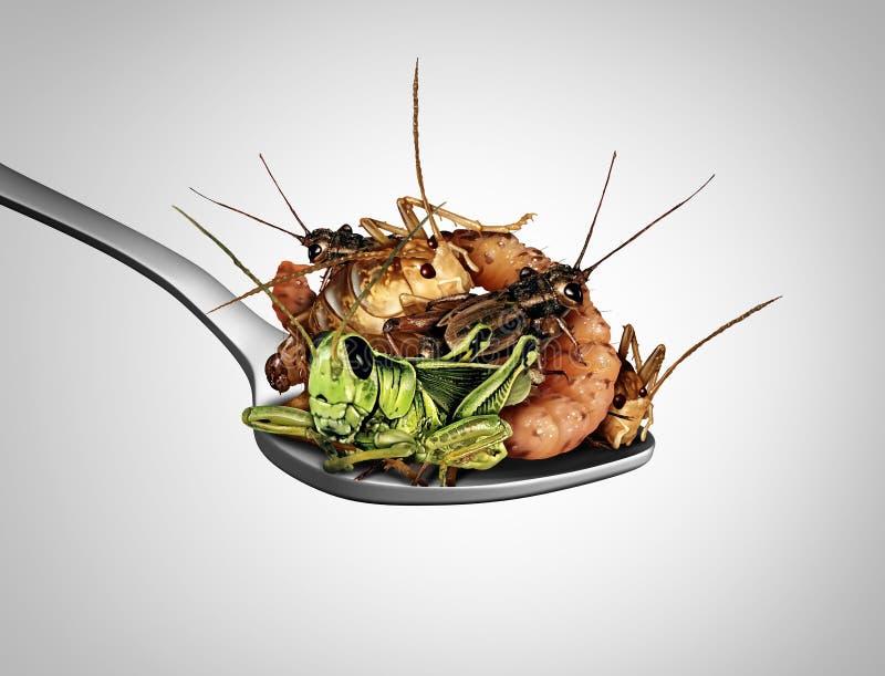 Łasowanie pluskw egzota jedzenie ilustracja wektor