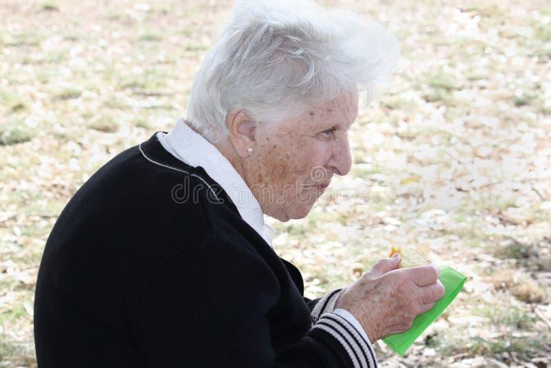 łasowanie tortowa stara kobieta obraz royalty free