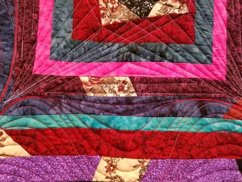 Łata kolorowa kołdrowa tkanina lub backround obraz royalty free