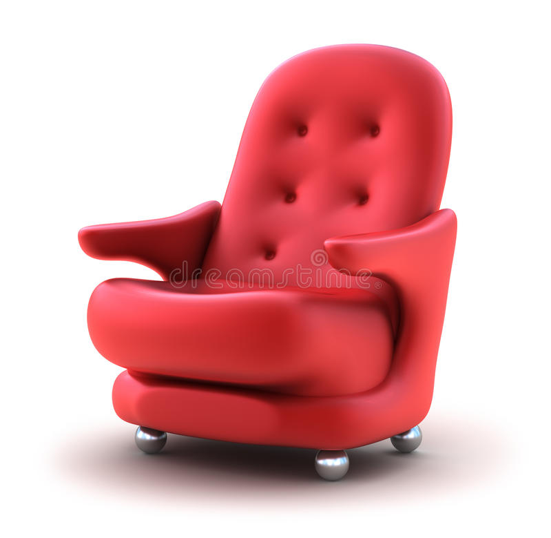 łatwa krzesło czerwień royalty ilustracja