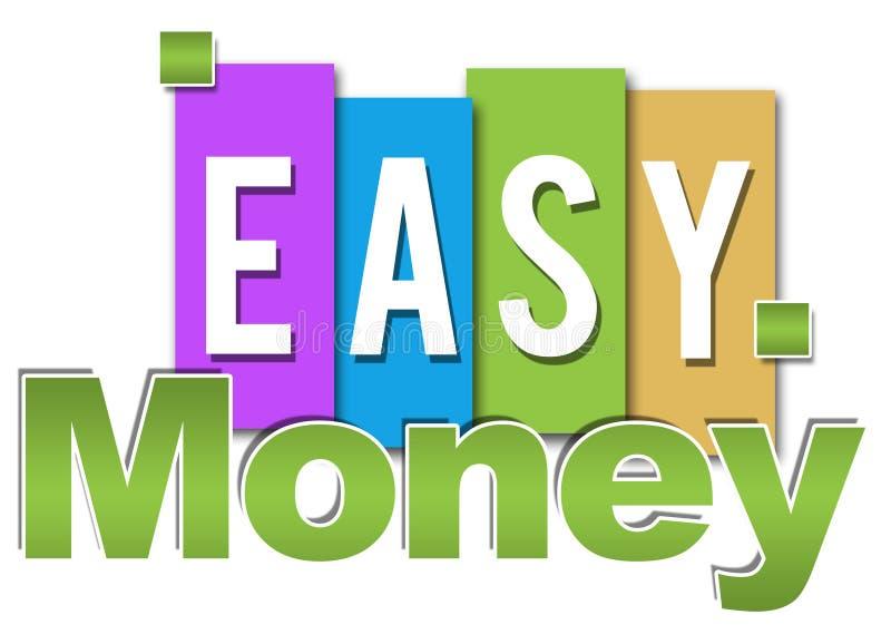 Łatwego pieniądze profesjonalista Kolorowy ilustracji