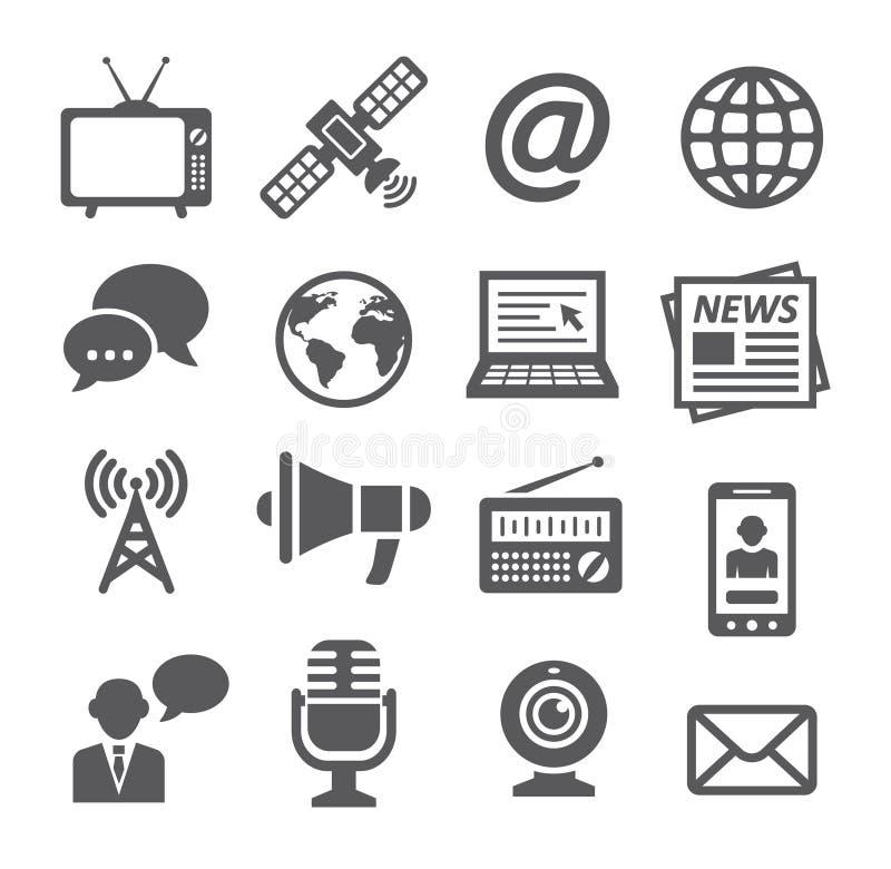 łatwy redaguje ikony medialne royalty ilustracja
