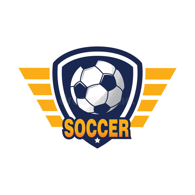 łatwy redaguje logo piłkę nożną ilustracji