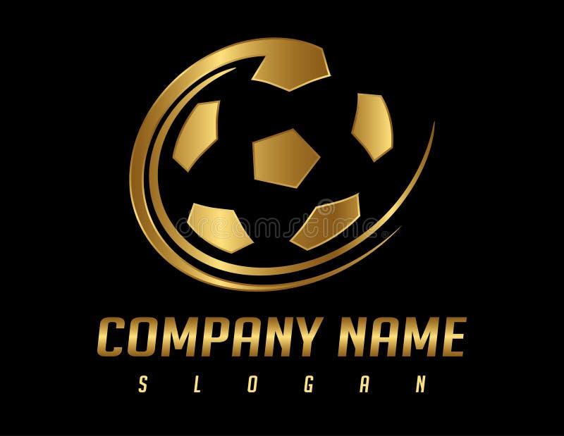 łatwy redaguje logo piłkę nożną ilustracja wektor